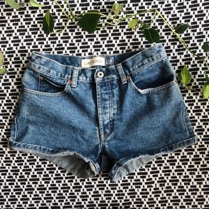 Vintage Gap Blue High Rise Jean Shorts